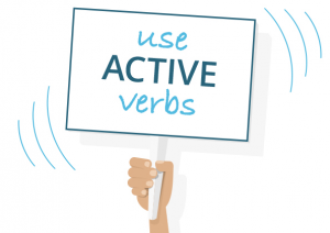 Use active verbs